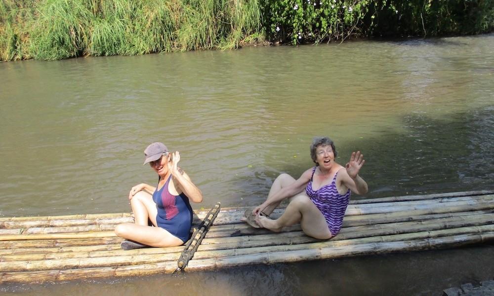 Mae Wang bamboo rafting