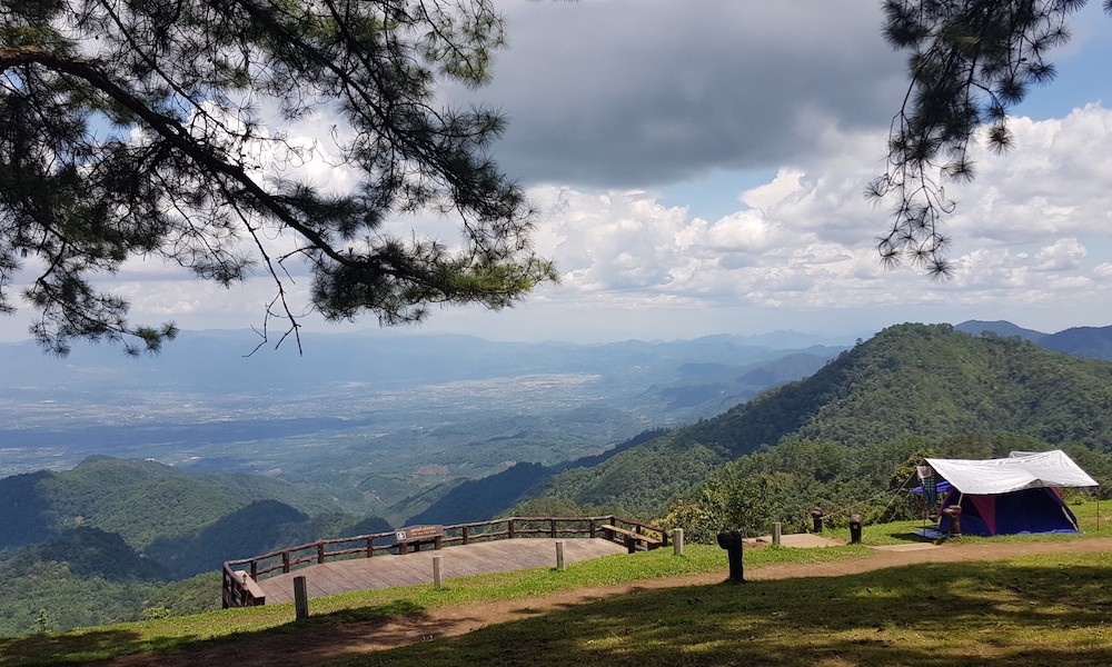 View deck at the camping ground of Doi Angkhang