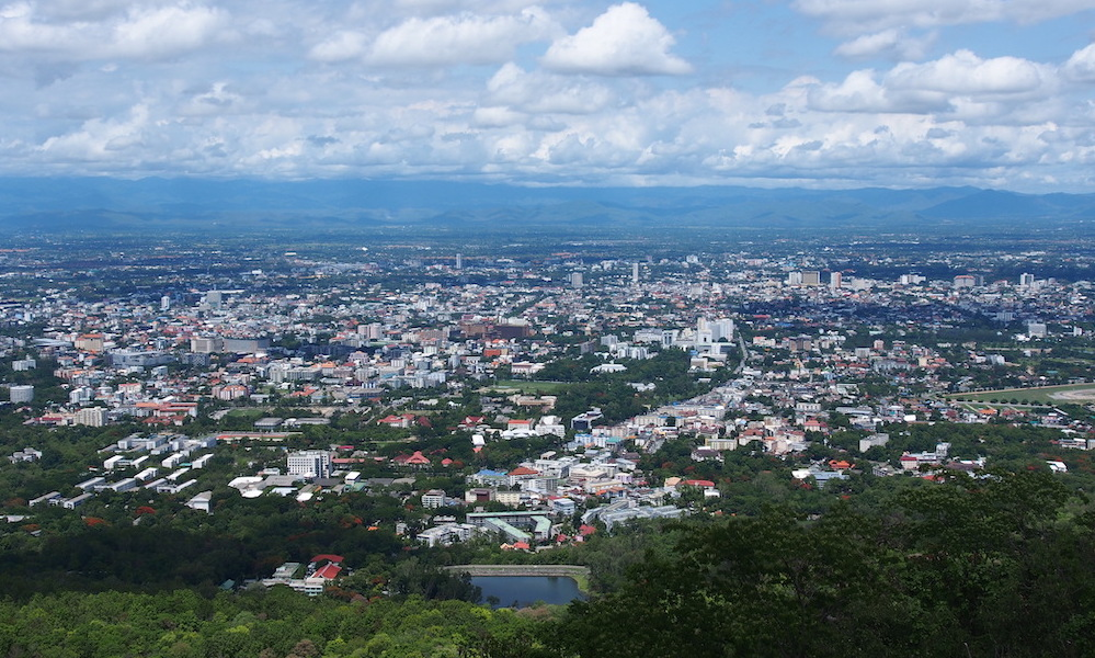 View over city
