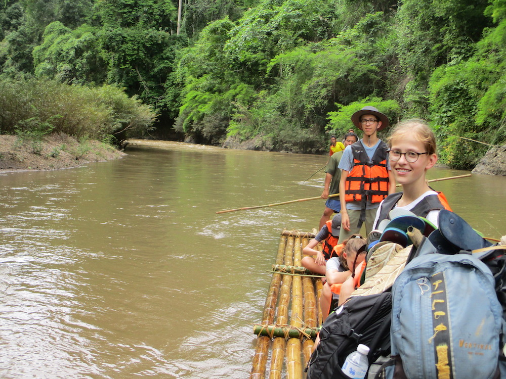 Family rafting on the Mae Taeng