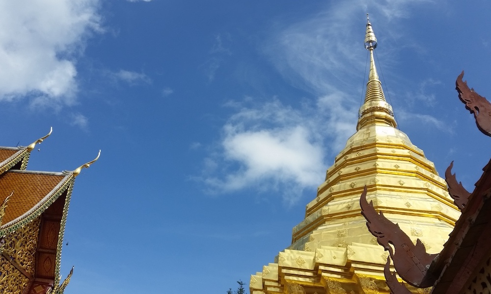 Golden chedi of Wat Doi Suthep