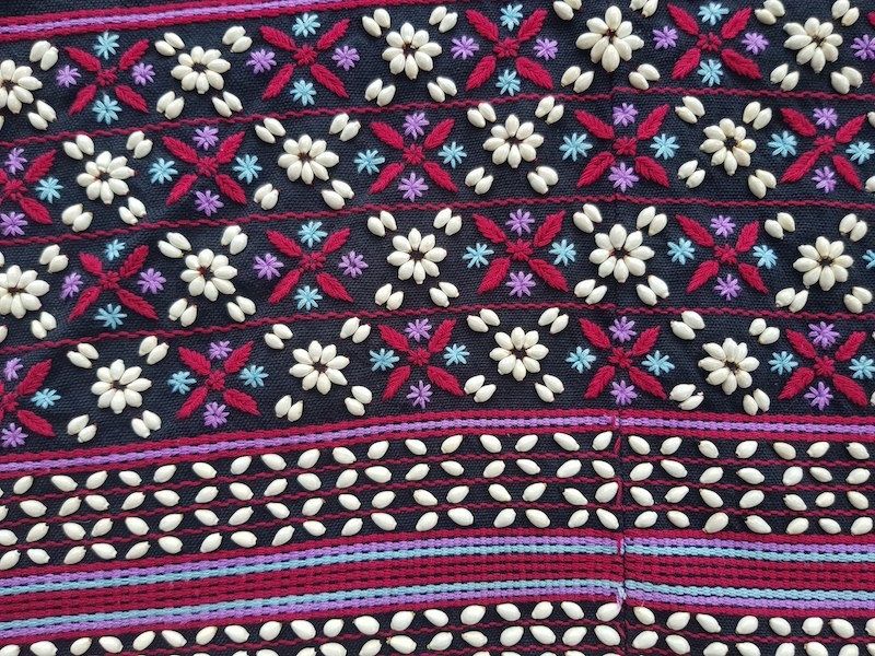colorful tribal textile Green Trails Trip