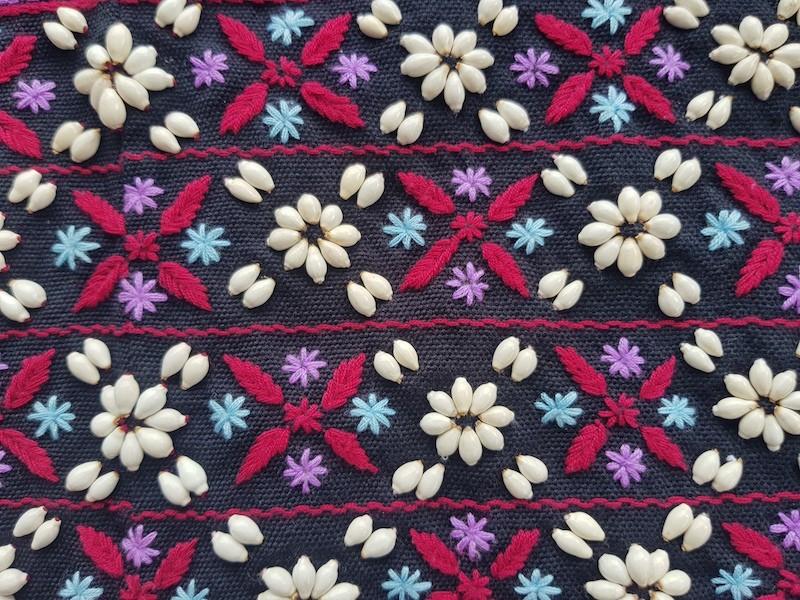Colourful tribal textile Karen hill tribe