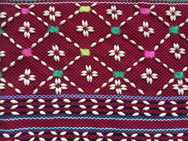 Colorful tribal textile