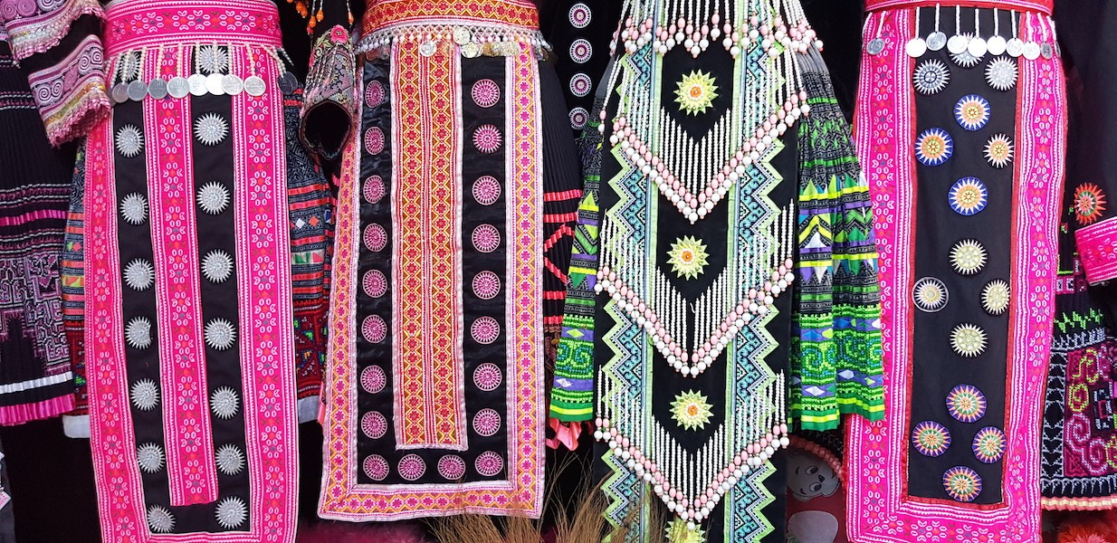 Tribal textiles Hmong hill tribe