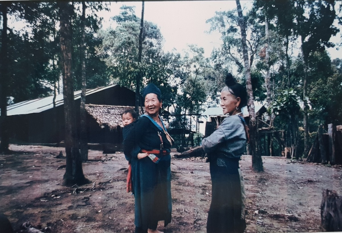 Two women in traditional dress