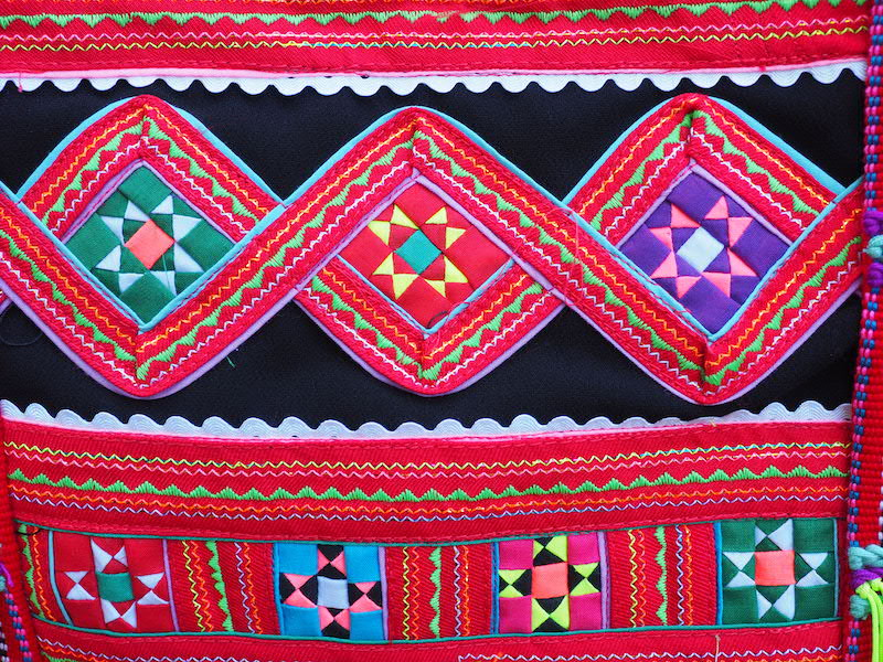colourful tribal textile