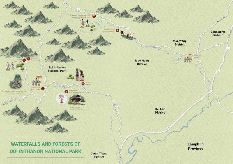 Map of Doi Inthanon