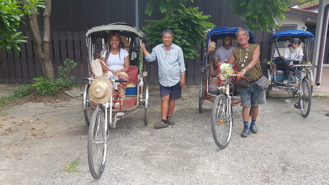 Three bicycle taxis Chiang Mai on Three Wheels