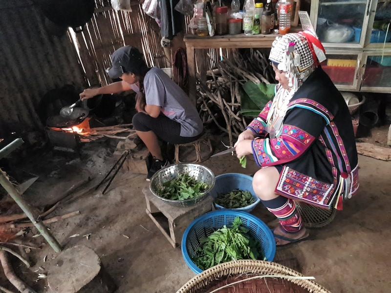 Cooking in village kitchen
