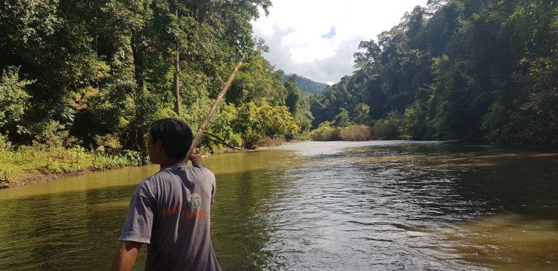 Rafting on a river Huai Nam Dang