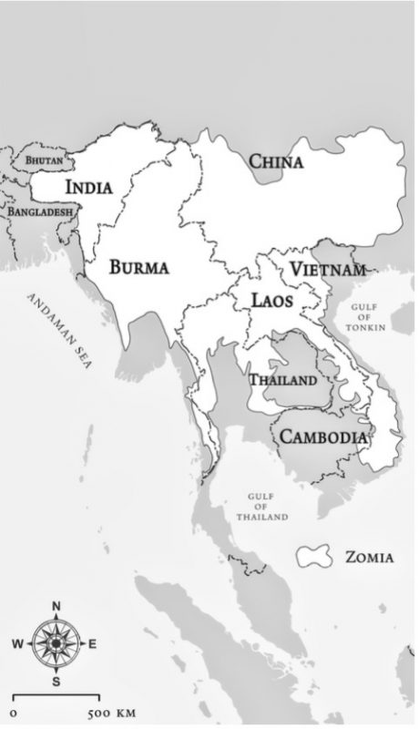 Map of Southeast Asia Ethnic Minorities North Thailand