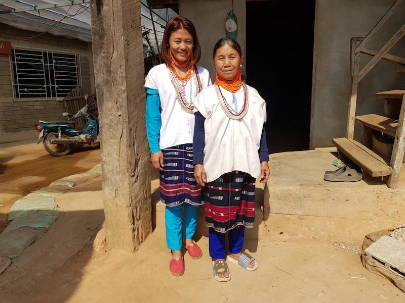 Two women in traditional dress